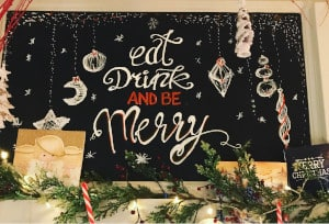 Christma, eat, drink and be merry